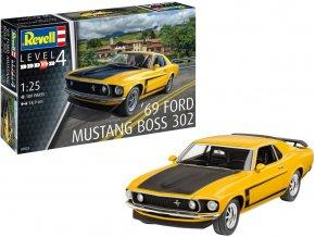 Revell - Ford Mustang Boss 302 1969, Plastic Modelkit 07025, 1/25