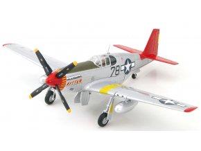 HobbyMaster - P-51B Mustang, USAAF 302nd FS Tuskegee Airmen, Charles McGee, signovaná edice, 1/48