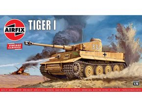 Airfix - Panzerkampfwagen VI Tiger I., Classic Kit  VINTAGE A01308V, 1/76