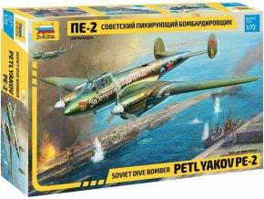 Zvezda - Petljakov Pe-2, Model Kit 7283, 1/72