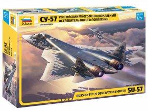 Zvezda - Suchoj Su-57, Model Kit 7319, 1/72