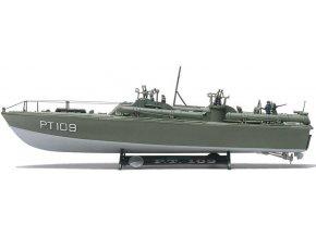 Revell - torpédový člun PT-109, Plastic ModelKit MONOGRAM 0310, 1/72