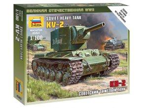 Zvezda - těžký tank KV-2, Wargames (WWII) 6202, 1/100