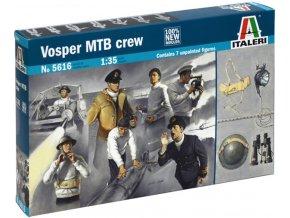 Italeri - figurky posádka torpédového člunu, britské námořnictvo, Model Kit 5616, 1/35