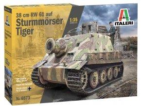 Italeri - Sturmmörserwagen 606/4 mit 38 cm RW 61 Sturmtiger, Model Kit 6573, 1/35