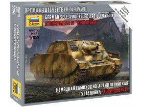 Zvezda - Sd.Kfz.166 Sturmpanzer IV Brummbär, Snap Kit  6244, 1/100