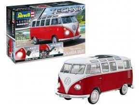 """Revell - Volkswagen Transporter T1 """"Samba Bus"""", Plastic ModelKit TECHNIK 00455, 1/16"""