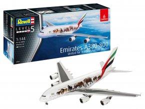 "Revell - Airbus A380-800, společnost Emirates ""Wild Life"", Plastic ModelKit 03882, 1/144"