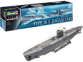 Revell - ponorka Type IXC U67 / U154, Kriegsmarine, Plastic ModelKit 05166, 1/72