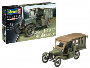Revell - Ford Model T 1917, Ambulance, Plastic ModelKit 03285, 1/35