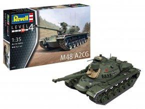 Revell - M48 A2CG Patton, Plastic ModelKit 03287, 1/35
