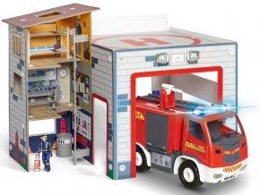 Revell - hasičské auto & hasičská stanice, Junior Kit playset 00852, 1/20