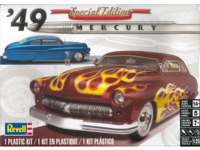 Revell - Mercury Custom Coupe 49, Plastic ModelKit MONOGRAM 2860, 1/25