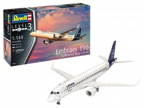 Revell - Embraer ERJ- 190, Lufthansa, Modelset 63883, 1/144