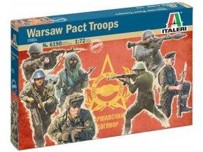 Italeri - figurky vojáci Varšavské smlouvy, 1980s, Model Kit 6190, 1/72