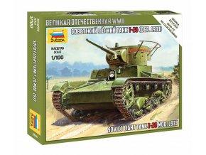 Zvezda - T-26 mod.1933, Snap Kit 6246, 1/100