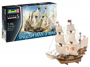 Revell - loď English Man O'War, Plastic ModelKit 05429, 1/96