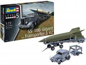 Revell - Hanomag SS 100 Gigant + Vergeltungswaffe 2 - V2, Plastic ModelKit 03310, 1/72