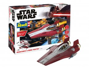 Revell - Star Wars - Resistance A-wing Fighter, red, světelné a zvukové efekty, Build & Play SW 06770, 1:44