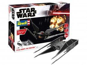 Revell - Star Wars - Kylo Ren's TIE Fighter, světelné a zvukové efekty, Build & Play SW 06771, 1/70