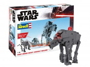 Revell - Star Wars - First Order Heavy Assault Walker, světelné a zvukové efekty, Build & Play SW 06772, 1/164