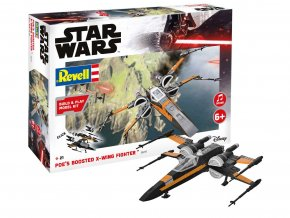 Revell - Star Wars - Poe's Boosted X-wing Fighter, zvukové efekty, Build & Play SW 06777, 1/78