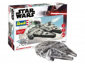 Revell - Star Wars - Millennium Falcon, světelné a zvukové efekty, Build & Play SW 06778, 1/164