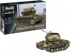"Revell - Flakpanzer III ""Ostwind"" 3.7cm FlaK 43, Plastic Modelkit 03286, 1/72"