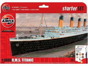 Airfix - RMS Titanic, Starter Set A55314, 1/1000