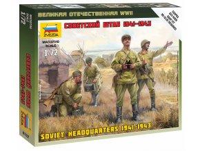 Zvezda - figurky sovětské velení, Wargames (WWII) 6132, 1/72