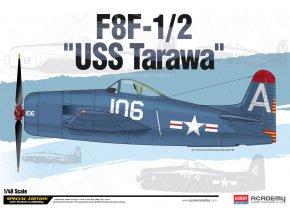 Academy - Grumman F8F-1/2 Bearcat-1/2, USS Tarawa (LHA-1), Model Kit 12313, 1/48