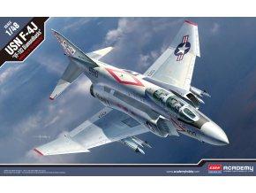 Academy - McDonnell Douglas F-4J Phantom II, US NAVY, VF-102 Diamondbacks, Model Kit 12323, 1/48
