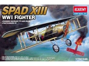 Academy - SPAD S.XIII, 1. světová válka, Model Kit 12446, 1/72