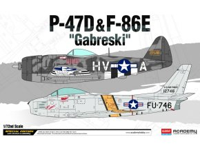 Academy - Republic P-47D Thunderbolt & North American F-86E Sabre, Francis Stanley Gabreski , Model Kit 12530, 1/72