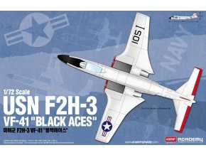 "Academy - McDonnell F2H-3 Banshee, US NAVY, VF-41 ""Black Aces"", Model Kit 12548, 1/72"