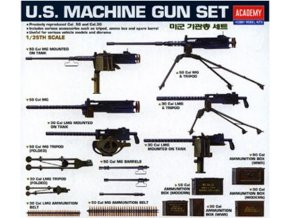 1457786537054 academy 1 35 u.s. ww2 machine gun set 13262 sincerehobby