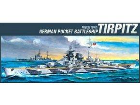 Academy - bitevní loď Tirpitz, Model Kit 14219, 1/800