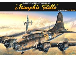 Academy - Boeing B-17F Flying Fortress, USAF, Memphis Belle / Memphiská kráska, Model Kit 12495, 1/72