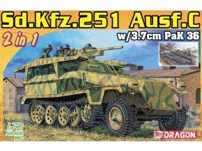 Academy - Sd.Kfz.251/7 Ausf.C Pionierpanzerwagen (2 in 1), Model Kit 7606, 1/72