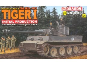 Dragon - Pz.Kpfw.VI Tiger I, Model Kit 14101, 1/144