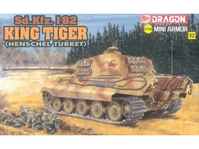 Dragon - Pz.Kpfw.VI Ausf.B Tiger II - Kingtiger Henschel, Model Kit 14102, 1/144