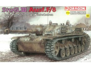 Dragon - Sd.Kfz.142 Sturmgeschütz III Ausf.F/8 - StuG III, Model Kit 14103, 1/144
