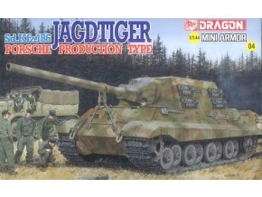 Dragon - SdKfz 186 Jagdtiger Henschel, Model Kit 14106, 1/144