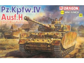 Dragon - Panzerkampfwagen IV Ausf.H, Model Kit 14108, 1/144
