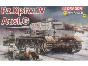Dragon - Panzerkampfwagen IV Ausf.G, Model Kit 14110, 1/144