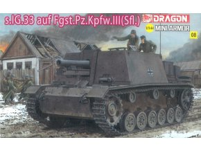 Dragon - Sturm-Infanteriegeschütz 33B - StuIG 33 / Bs.IG.33 auf Fgst.Pz.III, Model Kit 14112, 1/144