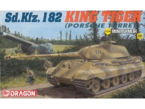 Dragon - Pz.Kpfw.VI Ausf.B Tiger II - Kingtiger Porsche, Model Kit 14114, 1/144
