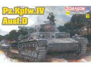 Dragon - Panzerkampfwagen IV Ausf.D, Model Kit 14118, 1/144