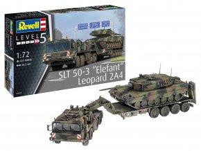 Revell - Faun SLT 50-3 Elefant + Leopard 2A4, Plastic Modelkit 03311, 1/72