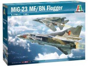 Italeri - Mikoyan-Gurevich MiG-23 MF/BN Flogger, Model Kit 2798, 1/48